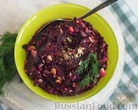 Салат из свёклы, с орехами и клюквой