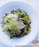 Салат из сельдерея и козьего сыра
