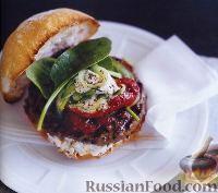 Гамбургер с ягнятиной и сладким перцем