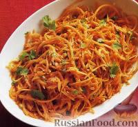 Салат из свежей моркови с кинзой