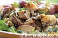 Салат из печеного картофеля и лука-порея