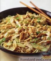 Салат из курицы с кунжутом