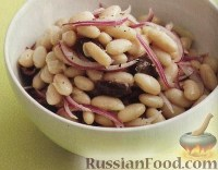 Салат из фасоли и маслин
