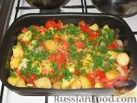 Запеченый картофель с томатами