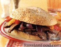 Сэндвич с говядиной и овощами