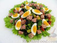 """Салат """"Нисуаз"""" с тунцом и картофелем"""