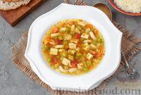 Суп минестроне с курицей