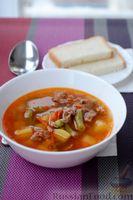 Английский суп «Стью» с говядиной и мясным фаршем