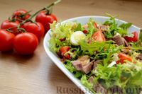 Салат с языком и имбирным соусом