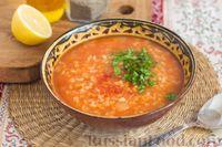 Суп с чечевицей, рисом и булгуром