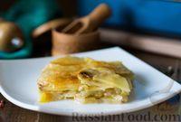 Картофель, запечённый с луком-пореем и сыром