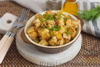 Тушеная картошка с луком, в сметане