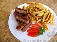 Немецкие картофельные клецки с чесночными колбасками