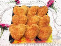 """Закуска """"Сердечки"""" с колбасой, сыром и помидорами"""