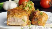 Тушёные свиные рёбрышки в томатно-сметанном соусе