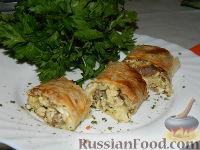 Роллы с мясом на завтрак