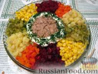 "Салат с тунцом ""Семицветик"""