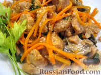 Салат с соевым мясом по-корейски