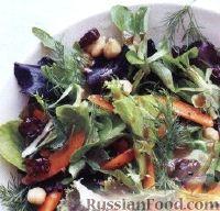 Салат с нутом и сушеными вишнями