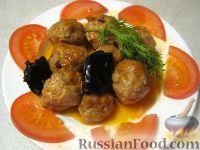 Тефтели  в кисло-сладком соусе с черносливом