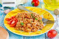Тушёная капуста с фаршем и рисом