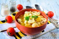 Картофельный суп с фаршированными макаронами