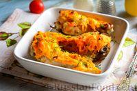 Курица в духовке, запечённая с морковью