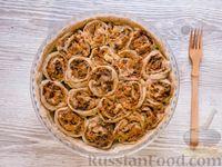 Штрули с курицей, морковью и луком, запечённые в духовке