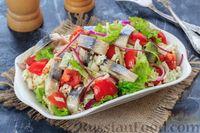 Салат с селедкой и помидорами