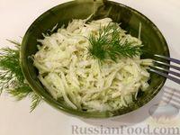 Салат из капусты с луком и майонезом