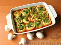 Картофельные рулетики с грибами