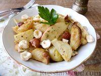 Салат с яблоком, брюссельской капустой и фундуком