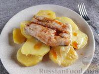 Хек с картошкой (в духовке)