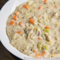 Суп с грибами и ячменными хлопьями