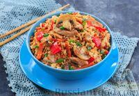 Овощное рагу с мясом и рисом