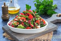 Салат из авокадо, помидоров, огурцов и редиса