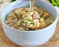 Фасолевый суп с фаршем и рисом
