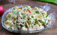Салат из авокадо, яиц и редиса