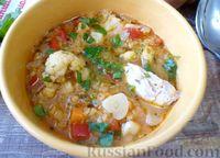Суп из чечевицы, на курином бульоне