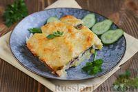 Запечённая картошка со скумбрией и сыром