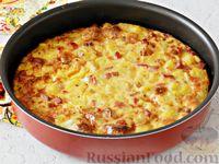 Запеканка-омлет с картофелем и копчёностями (в духовке)