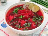 Суп со свёклой и солёными огурцами