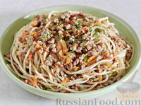 Спагетти с фаршем в томатном соусе