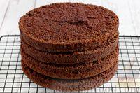 Шоколадные коржи для торта