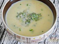 Картофельный суп-пюре с брокколи и сыром