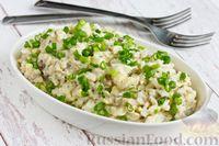 Салат с рыбной консервой, рисом и яйцами