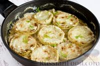 Кабачки с луком, тушенные в сметанно-чесночном соусе