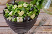 Салат со шпинатом, авокадо и сыром