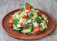 Овощной салат с мелиссой