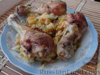 Запечённые куриные голени с овощами (в рукаве)